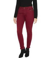 jeans pierna recta liso burdeocurvi