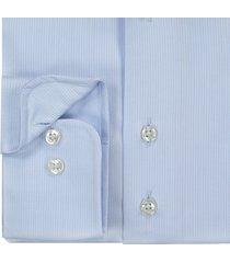 sleeve7 overhemd lichtblauw dobby luxe fijne streep