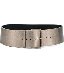 ann demeulemeester textured belt - gold