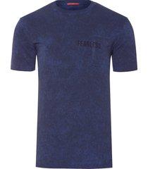 t-shirt masculina com bolso estampa fearless - azul