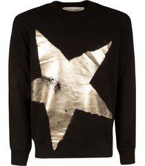 golden goose metallic star print sweatshirt