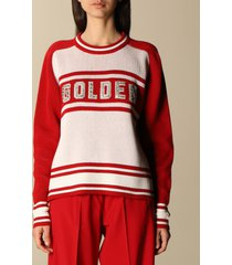 golden goose sweater golden goose pullover in cotton blend with rhinestone logo