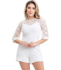 macaquinho clara arruda renda bordada 80025 off-white