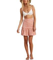 billabong x salty blonde women's upside ruffled skirt