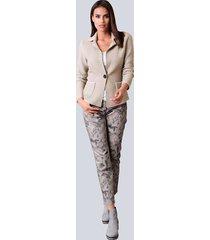 broek alba moda taupe::grijs