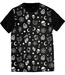 camiseta elephunk estampada black magic preta - kanui