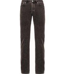 a.p.c. jeans cinque tasche in denim grigio