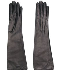 ermanno scervino classic gloves - black