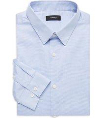 theory men's cedrick checkered dress shirt - olympic - size 17 l