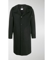 burberry hooded single-breasted coat