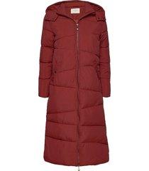 gaiagrocr long jacket gevoerde lange jas rood cream