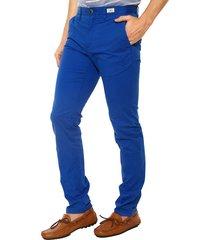 pantalon chino algodón organico azul tommy hilfiger