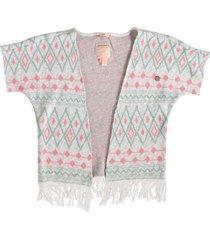 indian blue zacht kimono vest