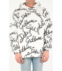 dolce & gabbana hooded sweatshirt with three-dimensional print