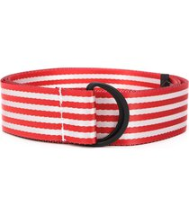 botter striped twill belt - red