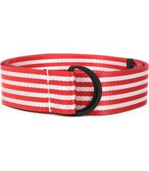 botter striped twill belt - red