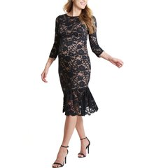 women's ingrid & isabel flounce hem lace maternity dress