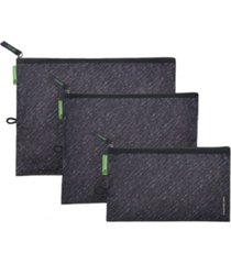 set of 3 antimicrobial pouches