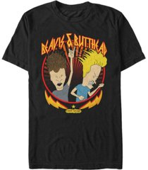 beavis and butthead mtv men's metal head short sleeve t-shirt