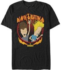 beavis and butthead mtv men's metal head short sleeve t-shirt