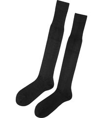 calzedonia - tall egyptian cotton socks, 42-43, black, men