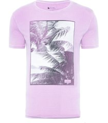 t-shirt masculina vista para o mar - lilás