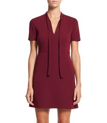 theory women's tie-neck a-line dress - currant - size 6