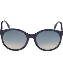 fendi women's 56mm round sunglasses - blue