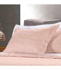 porta travesseiro altenburg 200 fios 100% algodáo essence peach - rosa rosa - tricae
