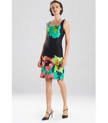 ophelia jacquard dress, women's, black, cotton, size 0, josie natori