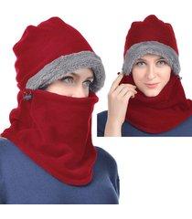 cappellino per maschera da caccia caldo da donna per uomo con paraorecchie sciarpa con cappuccio con cappuccio riscaldante antivento con aletta