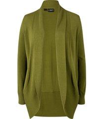 cardigan aperto in filato fine (verde) - bpc bonprix collection