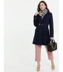 casaco marisa trench coat manga longa feminino