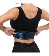 colete camiseta regata redutor de medidas para mulheres emagrecimento rápido preto - feminino