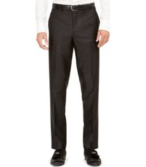 tallia orange men's slim-fit black solid suit pants