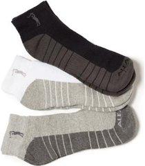 kit de meias cano curto três cores aleatory masculino