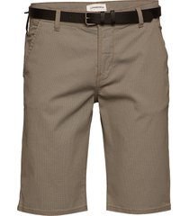 aop chino shorts w. belt shorts chinos shorts brun lindbergh