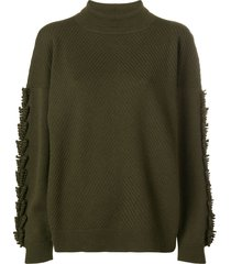 barrie troisieme dimension cashmere turtleneck pullover - green