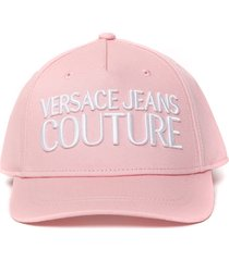 versace jeans couture embossed logo baseball hat
