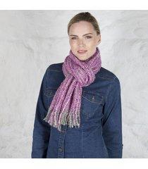 irish woven celtic scarf pink