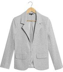 blazer patprimo básico solapa ancha gris
