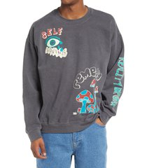 men's bdg urban outfitters reality break sweatshirt, size x-large - black
