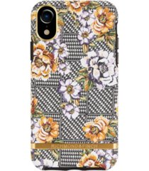 richmond & finch floral tweed case for iphone xr