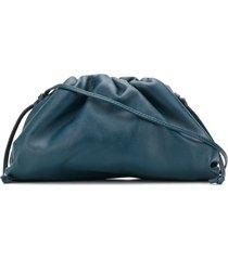 bottega veneta the pouch shoulder bag - blue
