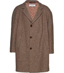toback coat bm wollen jas lange jas bruin martin asbjørn