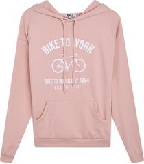 buzo para mujer bike to work color rosado, talla l