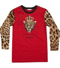 dolce & gabbana leopard long sleeve t-shirt
