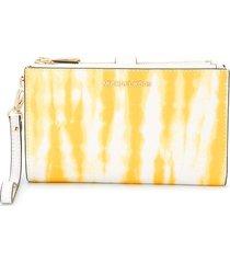 michael michael kors jet set tie-dye wallet - yellow