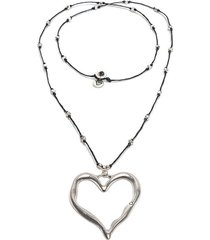 collar de mujer plateado negro cuore ondulato love vestopazzo