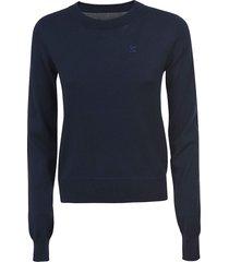 maison margiela rear logo embroidered sweatshirt